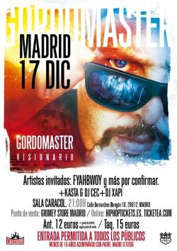 """GordoMaster presenta """"Visionario"""" en Madrid"""
