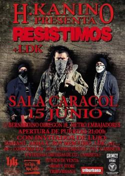 "H.Kanino presenta ""Resistimos"" en Madrid"