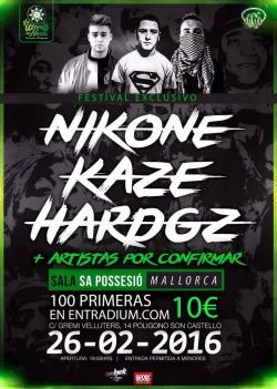 Hard GZ, Nikone y Kaze en Palma De Mallorca