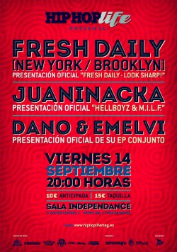 Hip Hop Life presenta Fresh Daily en Madrid