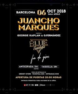 """Juancho Marqués presenta """"Blue Sundays"""" en Barcelona"""