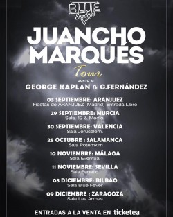 "Juancho Marqués presenta ""Blue Sundays"" en Málaga"