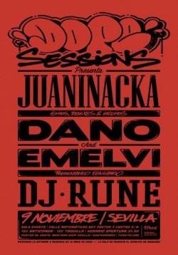 Juaninacka, Dano, Emelvi y Dj Rune en Sevilla