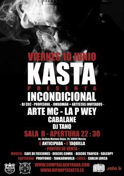 """Kasta presenta """"Incondicional"""" en Murcia"""
