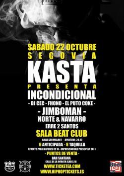 "Kasta presenta ""Incondicional"" en Segovia"