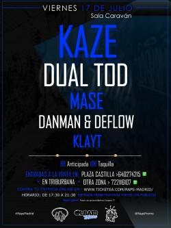 Kaze, Deflow, Dual TOD, Mase y más en Madrid