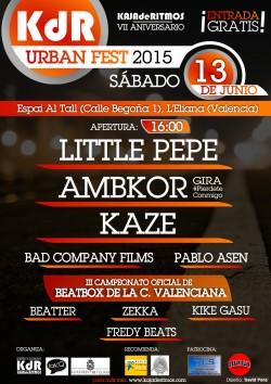 KdR Urban Fest 2015: 7º Aniversario en La Eliana