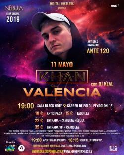 """Khan gira """"Nébula"""" en Valencia"""