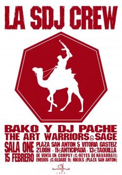 La SDJ Crew, Bako, Dj Pache, The art warriors y más en Vitoria-gasteiz