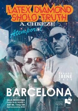 Latex Diamond, Sholo Truth y A. Cheeze en Barcelona