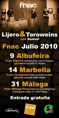 Lijero & Toroweins showcase en Fnac La Cañada (Málaga)
