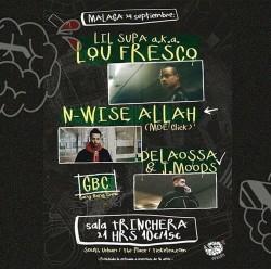 Lil Supa, N-Wise Allah, Delaossa, J. moops y más en Málaga
