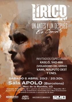 """Lirico presenta """"Un antes y un despues"""" en Barcelona"""