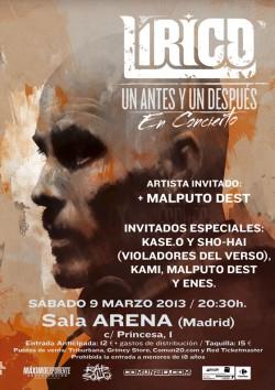 """Lirico presenta """"Un antes y un despues"""" en Madrid"""