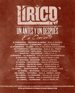 """Lirico presenta """"Un antes y un despues"""" en Málaga"""
