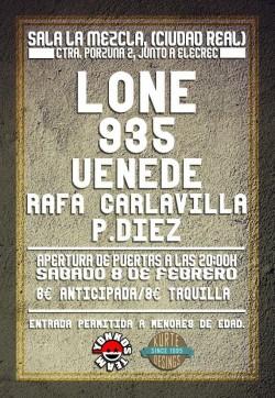 Lone, 935, Uenede, Rafa Carlavilla y más en Ciudad Real