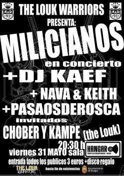 Los milicianos, Dj Kaef, Nava, Keith y más en Burgos
