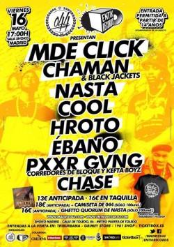 MDE Click, Chaman, Black Jackets, Nasta y más en Madrid