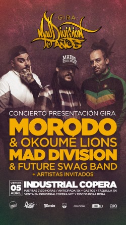 Mad Division - Gira 10 años - Con Morodo & Okoumé Lions en Granada