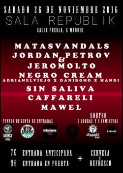 Matasvandals, Jordan Petrov, Jeromolto, Negro cream y más en Madrid