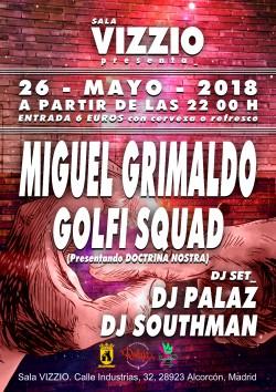Miguel Grimaldo, Golfi Squad, Dj Palaz y Dj Southman en Alcorcón