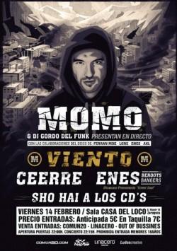 """Momo presenta """"Viento"""" en Zaragoza"""