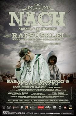 Nach & RapsusKlei en concierto en Mexico (2)