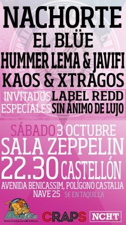 Nachorte, El Blüe, Hummer Lema, Javifi y más en Castellón
