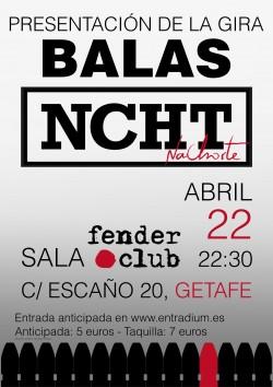 "Nachorte presenta ""Balas"" en Getafe"