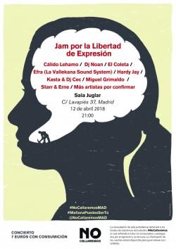No Callaremos: Jam por la Libertad de Expresión en Madrid