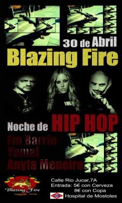 Noche de Hip Hop en Blazing Fire (Madrid)