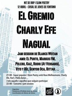 Noche de rap slam poetry en Barcelona