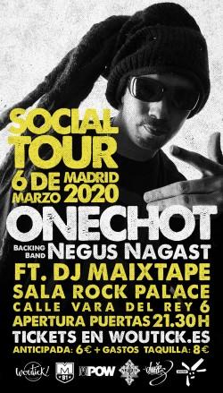 Onechot y Negus Nagast + DJ Maixtape en Madrid