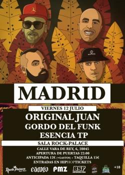 Original Juan, Gordo del Funk y Esencia TP en Madrid