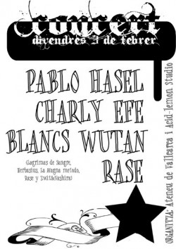 Pablo hasel en Barcelona