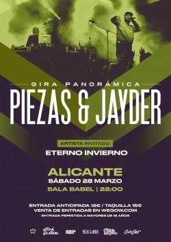 Piezas & Jayder - Gira Panorámica en Alicante