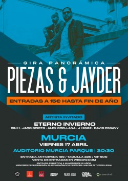 Piezas & Jayder - Gira Panorámica en Murcia
