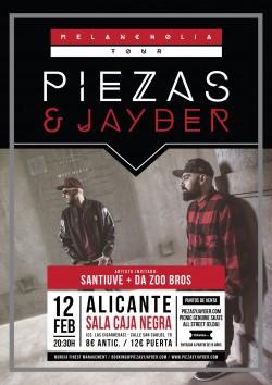 Piezas & Jayder - Melancholia tour en Alicante