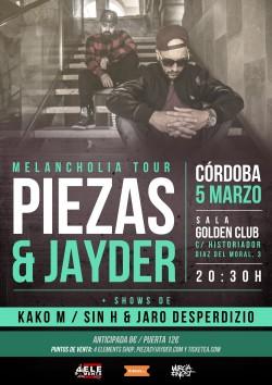 Piezas & Jayder - Melancholia tour en Córdoba