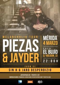 Piezas & Jayder - Melancholia tour en Merida
