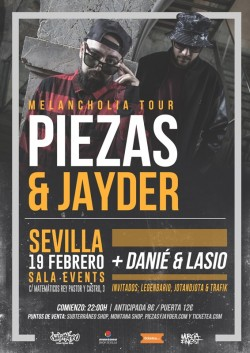 Piezas & Jayder - Melancholia tour en Sevilla