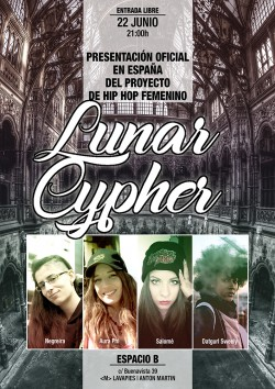 Presentación del proyecto de Hip Hop femenino Lunar Cypher en Madrid