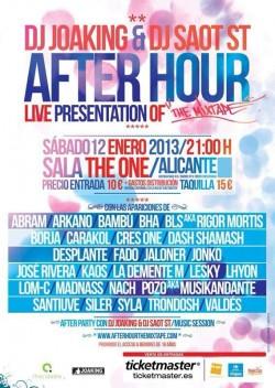 Presentación en directo After Hour en Alicante