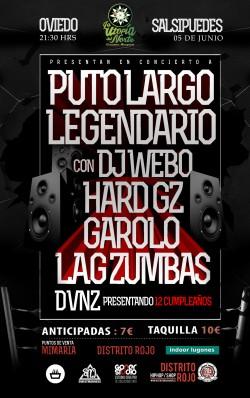 PutoLargo, Legendario, Hard GZ, Garolo y más en Oviedo