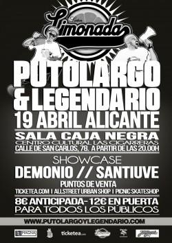 """PutoLargo y Legendario presentan """"Limonada"""" en Alicante"""
