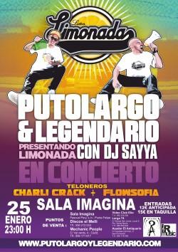 """PutoLargo y Legendario presentan """"Limonada"""" en Cádiz"""