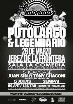 "PutoLargo y Legendario presentan ""Limonada"" en Jerez De La Frontera"