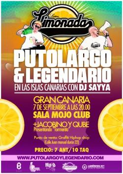 """PutoLargo y Legendario presentan """"Limonada"""" en Las Palmas de Gran Canaria"""