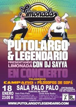 """PutoLargo y Legendario presentan """"Limonada"""" en Marinaleda"""