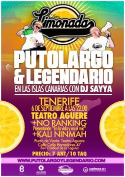 "PutoLargo y Legendario presentan ""Limonada"" en Santa Cruz De Tenerife"